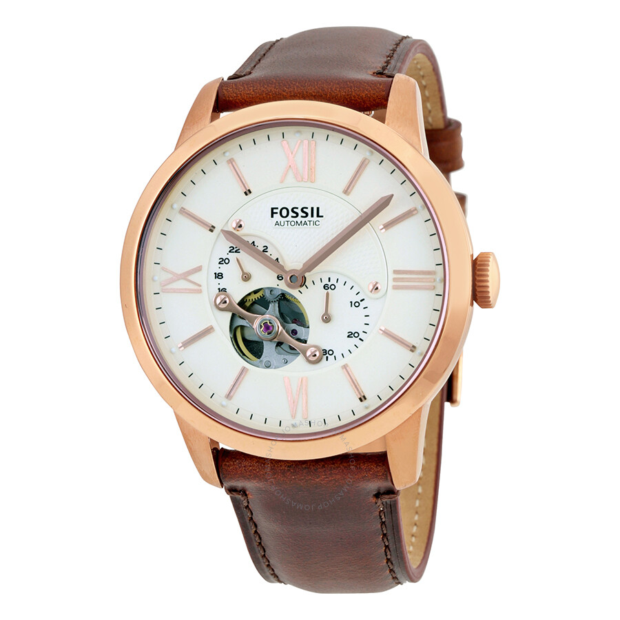 Fossil townsman beige dial automatic men 39 s watch me3105 townsman fossil watches jomashop for Fossil watches