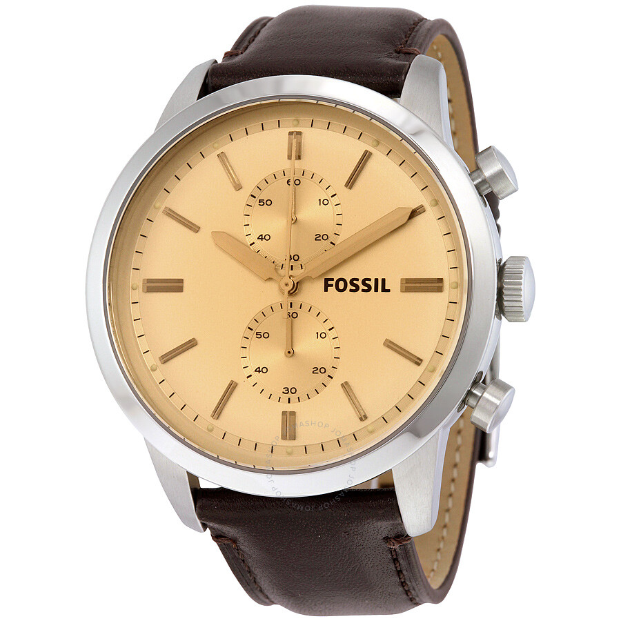 fossil townsman chronograph dial brown leather men 39 s watch. Black Bedroom Furniture Sets. Home Design Ideas