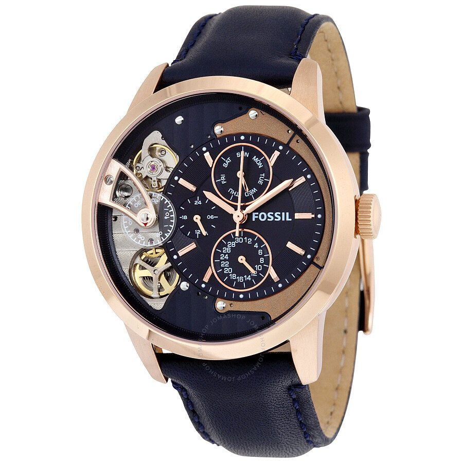 fossil townsman muli function navy blue dial men 39 s watch me1138 townsman fossil watches