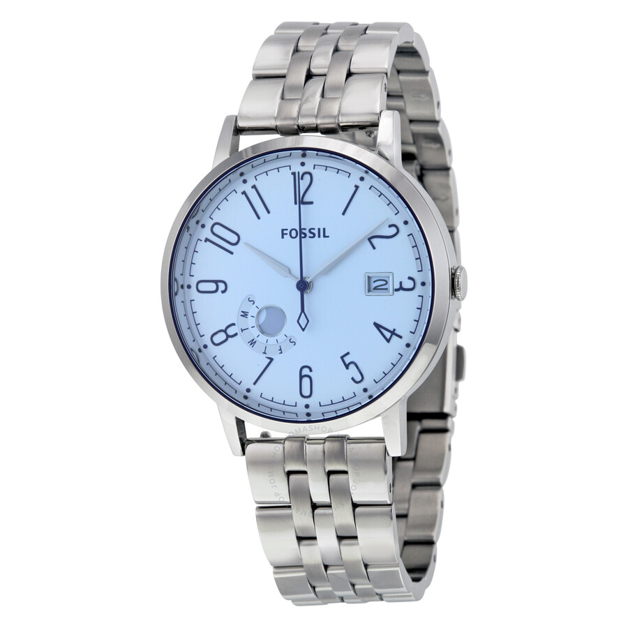 fossil vintage muse blue stainless steel