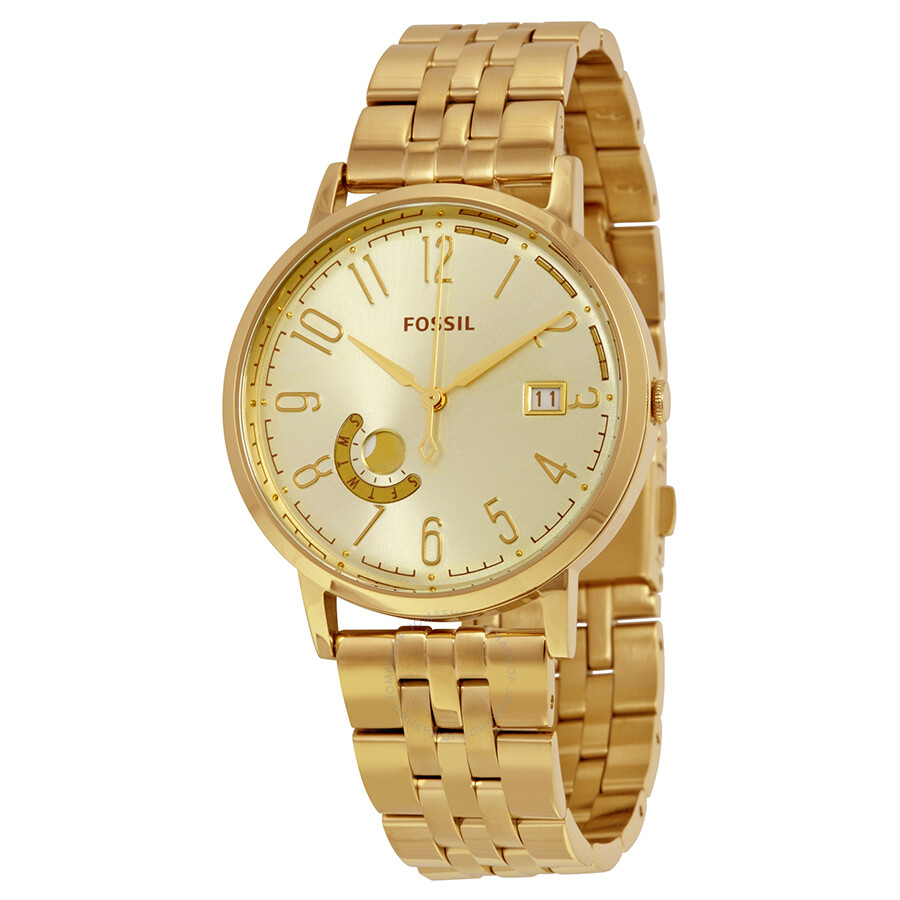 fossil vintage muse chagne gold tone