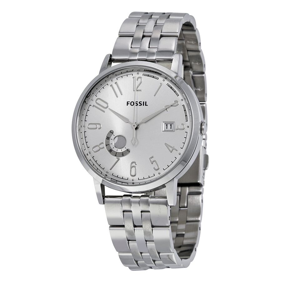 fossil vintage muse silver stainless steel