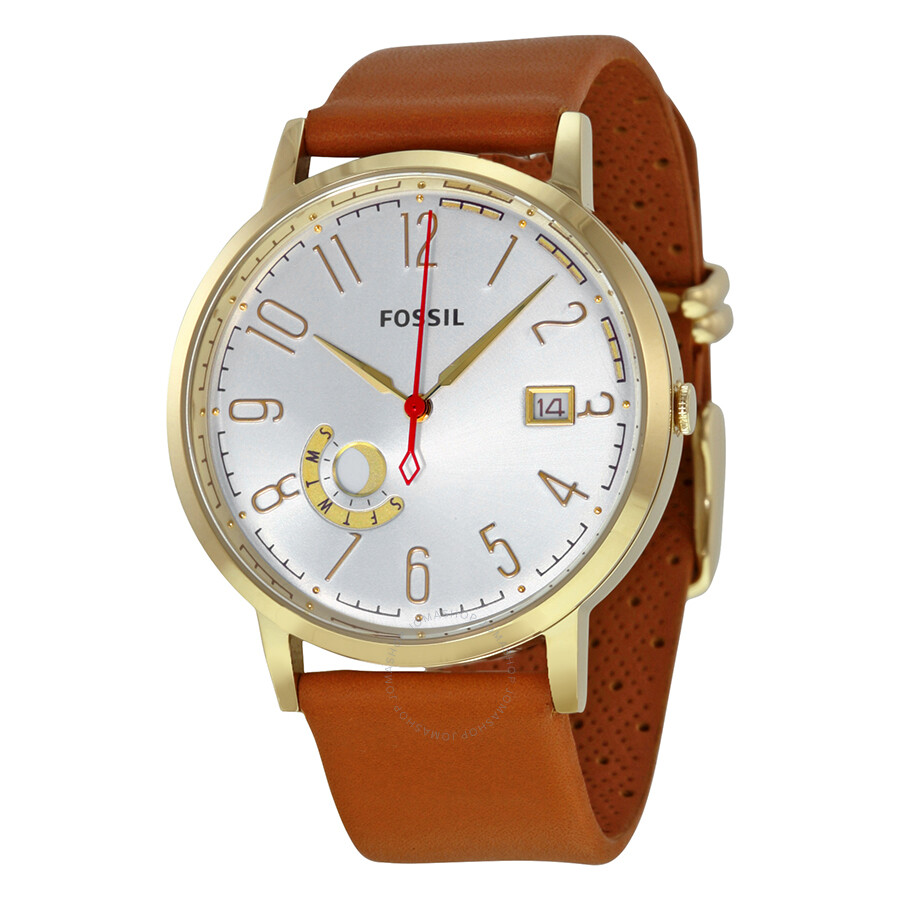 fossil vintage muse silver leather
