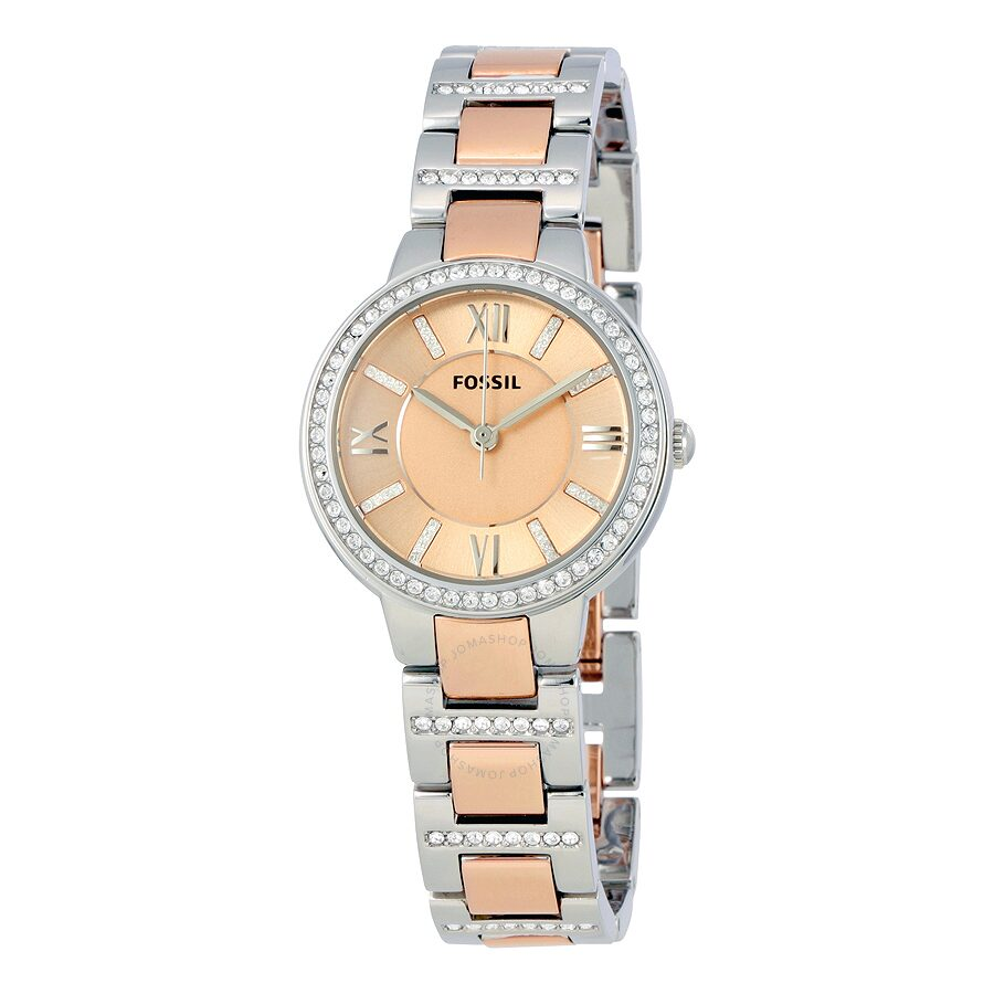 47c4c6173be Fossil Virginia Rose Dial Two-tone Ladies Watch ES3405 - Virginia ...