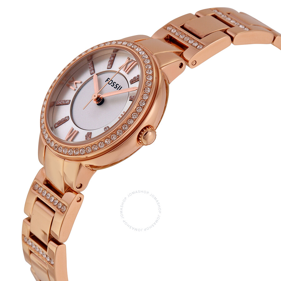 77290e3d23e ... Fossil Virginia Silver Dial Rose Gold-tone Ladies Watch ES3284 ...
