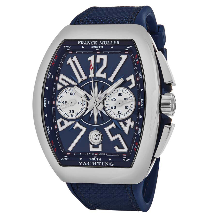 Franck muller vanguard yachting chronograph automatic blue dial men 39 s watch 45ccyactblu franck for Franck muller watches