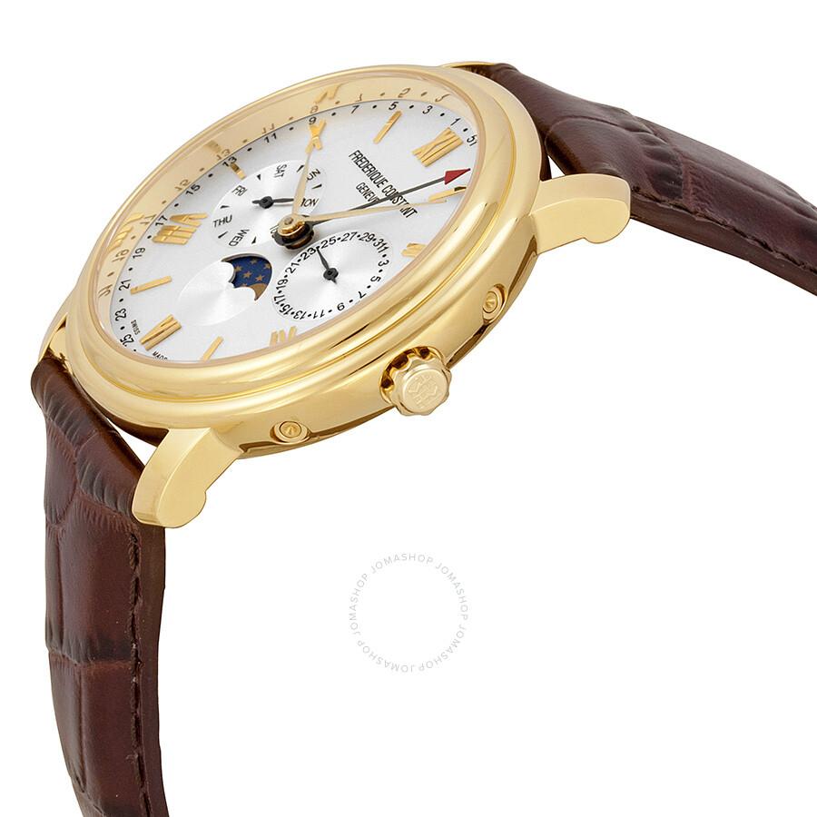 Frederique Constant Business Timer Silver Dial Men's Watch ...