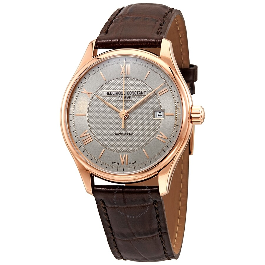 7cab73fbe Frederique Constant Classics Light Grey Dial Automatic Men's Leather Watch  FC-303MLG5B4 ...