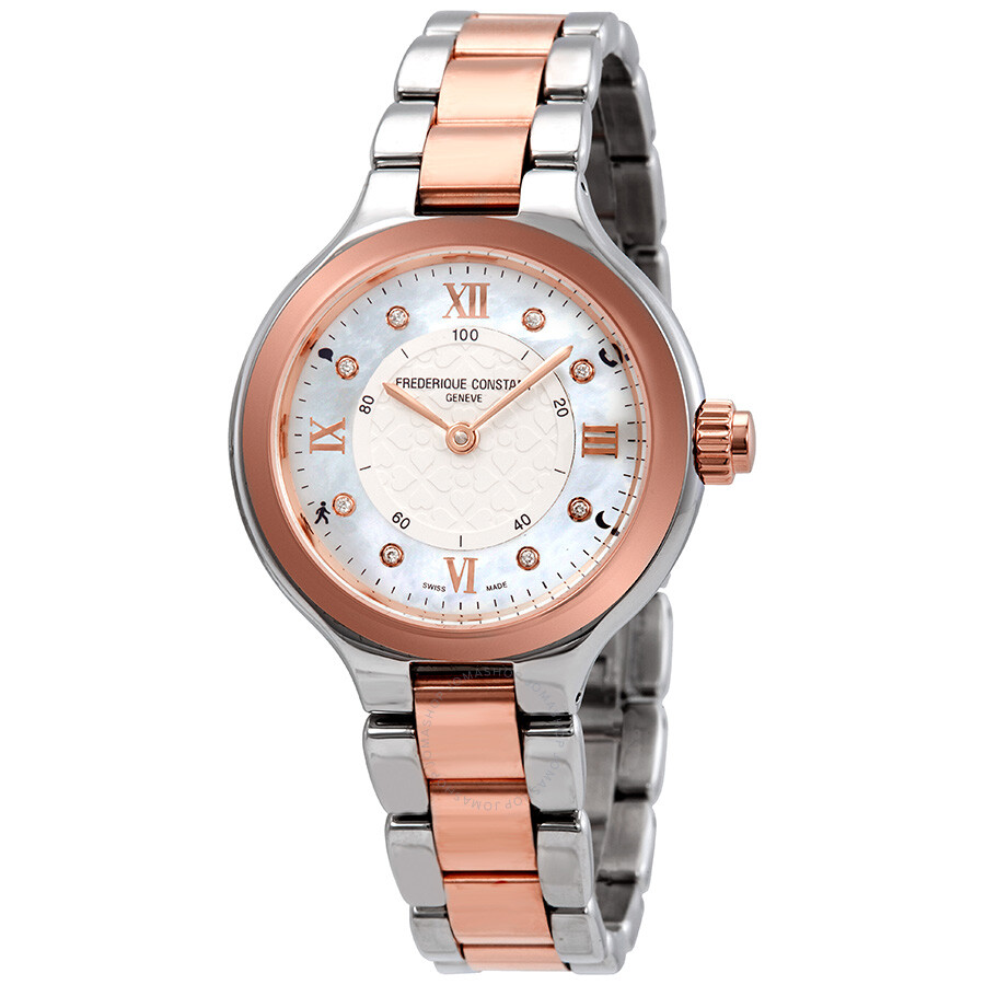 f5c70709cfeb Frederique Constant Horological Mother of pearl Dial Ladies Smart Watch  FC-281WHD3ER2B ...