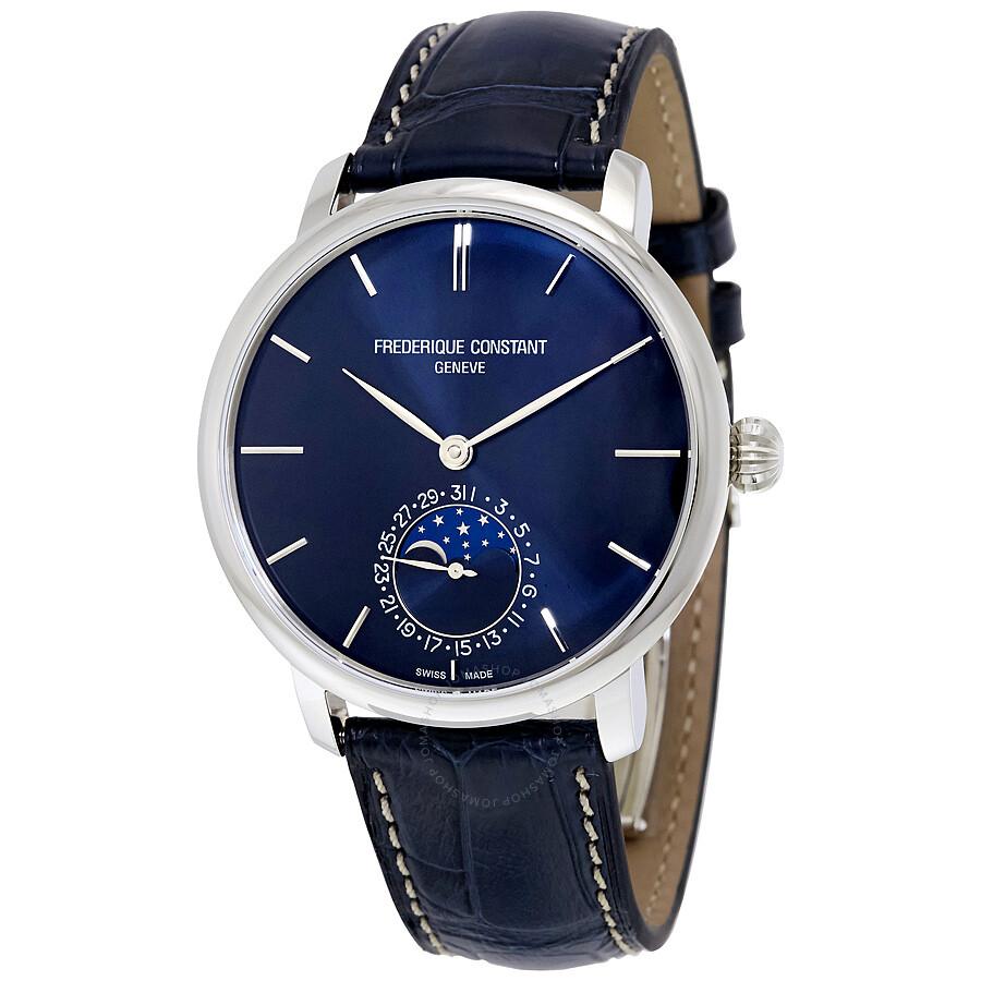frederique constant slimline blue dial men 39 s watch fc 705n4s6 slim line frederique constant