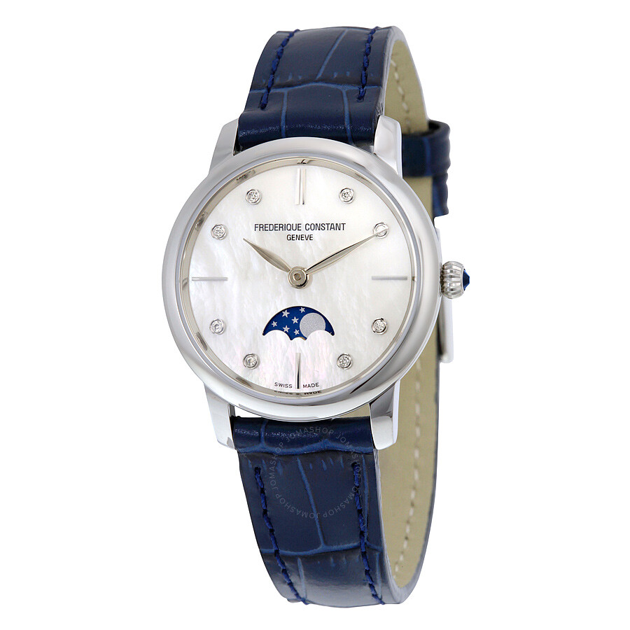 frederique constant slimline moonphase of pearl