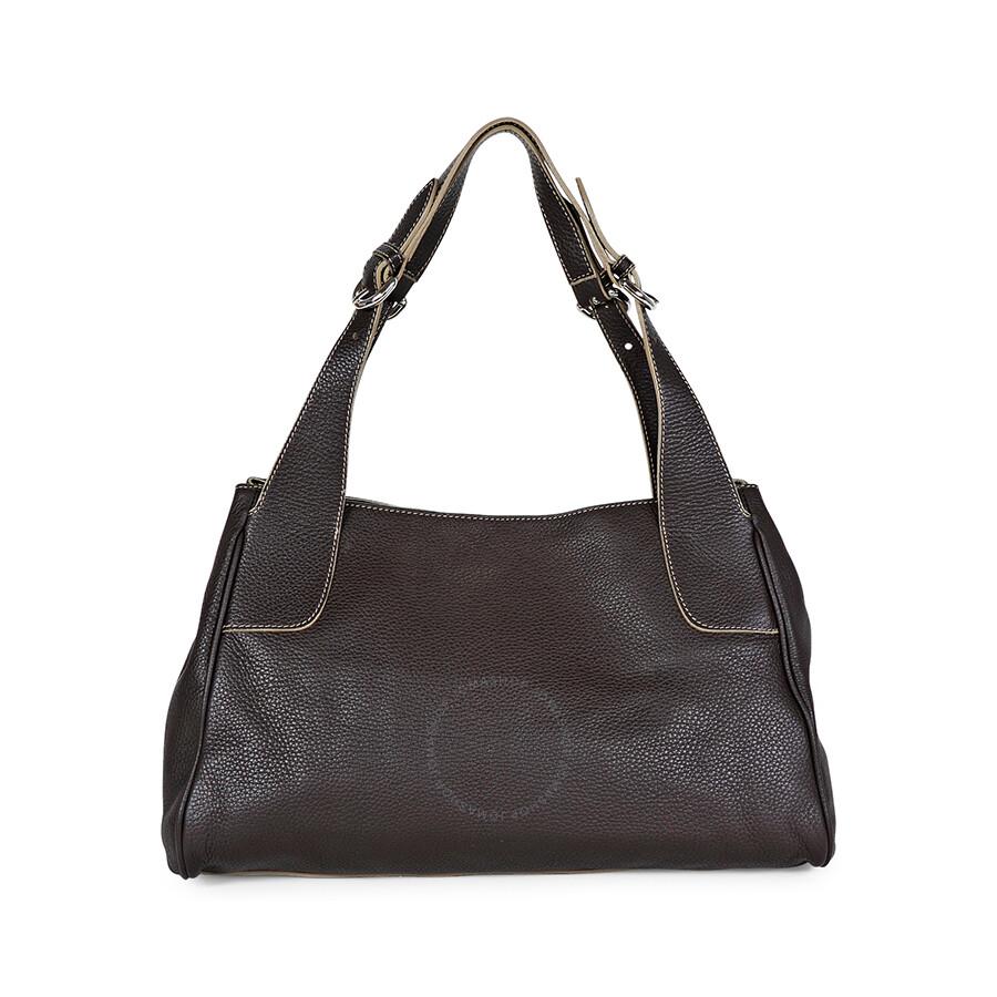 ebe18aec1aa92 Furla Brown Pebbled Leather Large Shoulder Bag Item No. 174872-BOB862Z
