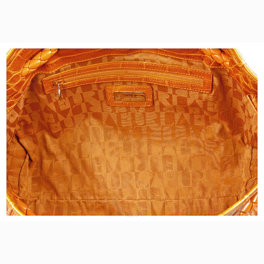 Furla Orange Basket Woven Per Tote 169145 B9b775z