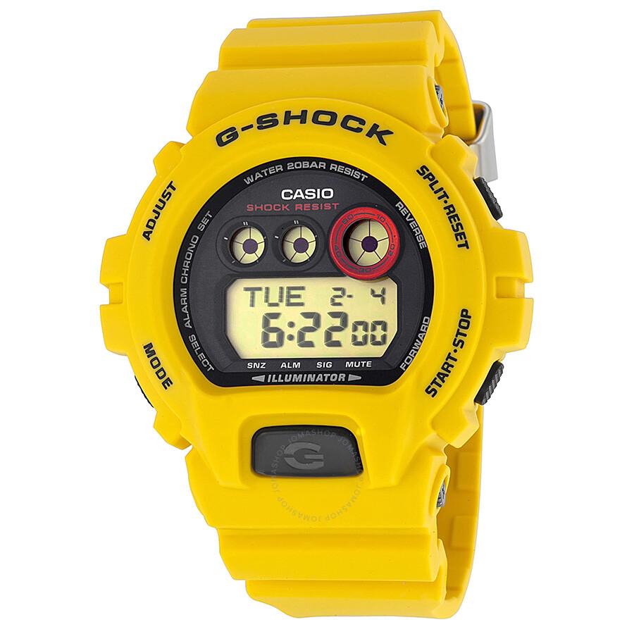 G Shock Casio Digital Dial Yellow Resin Men S Watch Gdx6930e 9cr