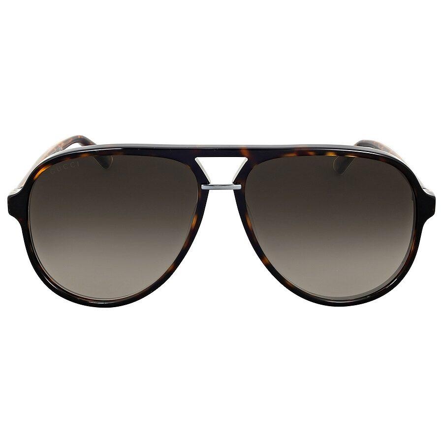 b649c4d074 Gucci Havana Aviator Sunglasses GG0015S - Sunglasses - Jomashop