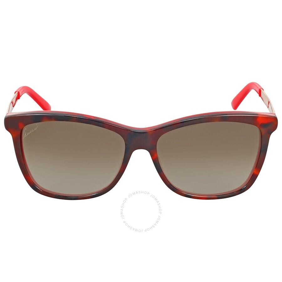 4b54484eaf5 Gucci Red and Gold Metal Sunglasses - Gucci - Sunglasses - Jomashop