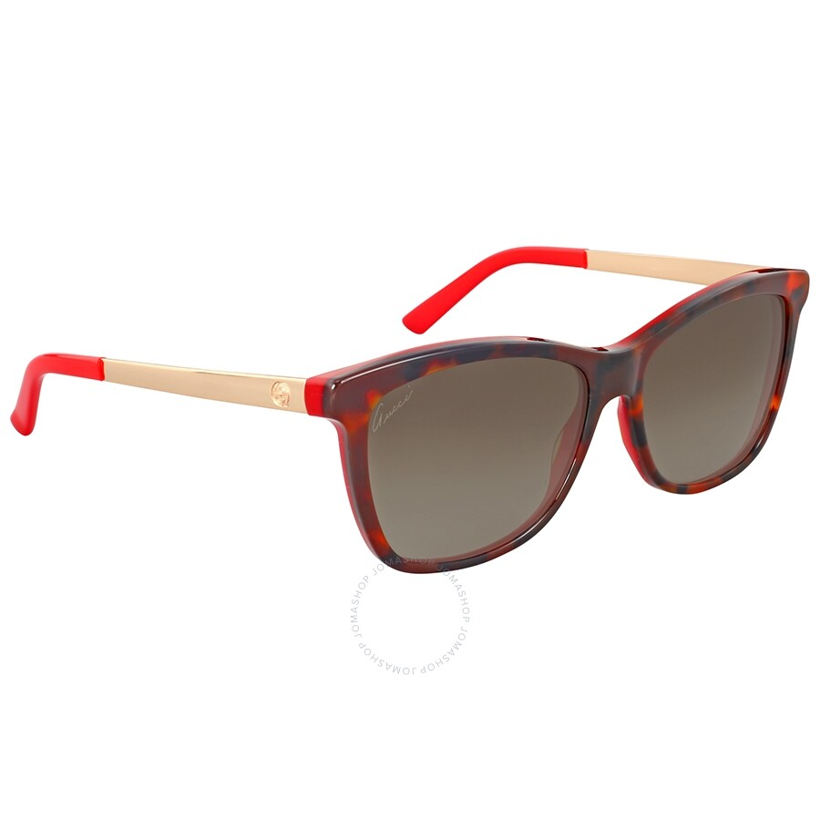 8fc8bb82c0 Gucci Red and Gold Metal Sunglasses Gucci Red and Gold Metal Sunglasses ...