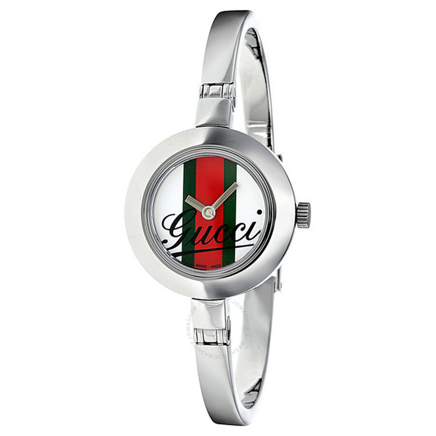 a1756f9c4b7 Gucci 105 Series Striped Dial Bangle Grande Ladies Watch YA105520 ...