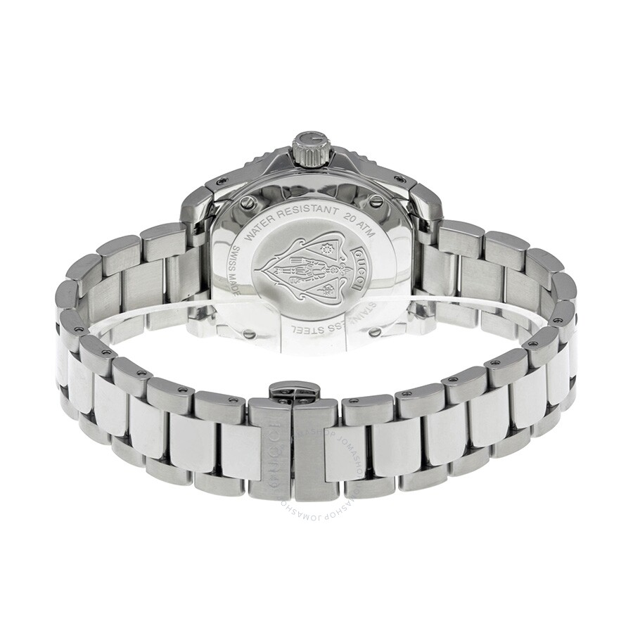 b4bc7f93c33 Gucci Dive Medium White Dial Stainless Steel Unisex Watch YA136402 ...