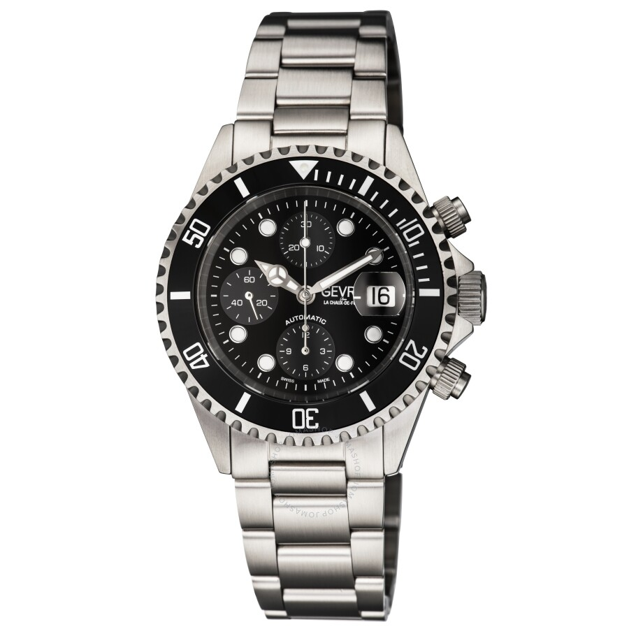 Gevril fashion blackdial men 39 s watch 4157a gevril watches jomashop for Gevril watches