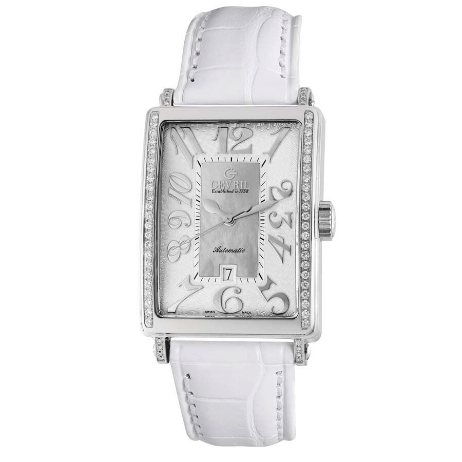 Glamour Automatic White Dial Ladies Watch 6209NE