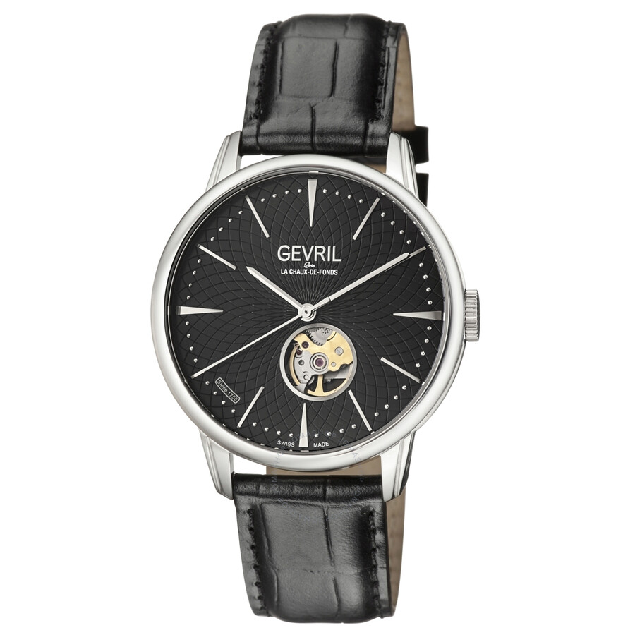 Gevril mulberry open heart automatic men 39 s watch 9600 gevril watches jomashop for Gevril watches