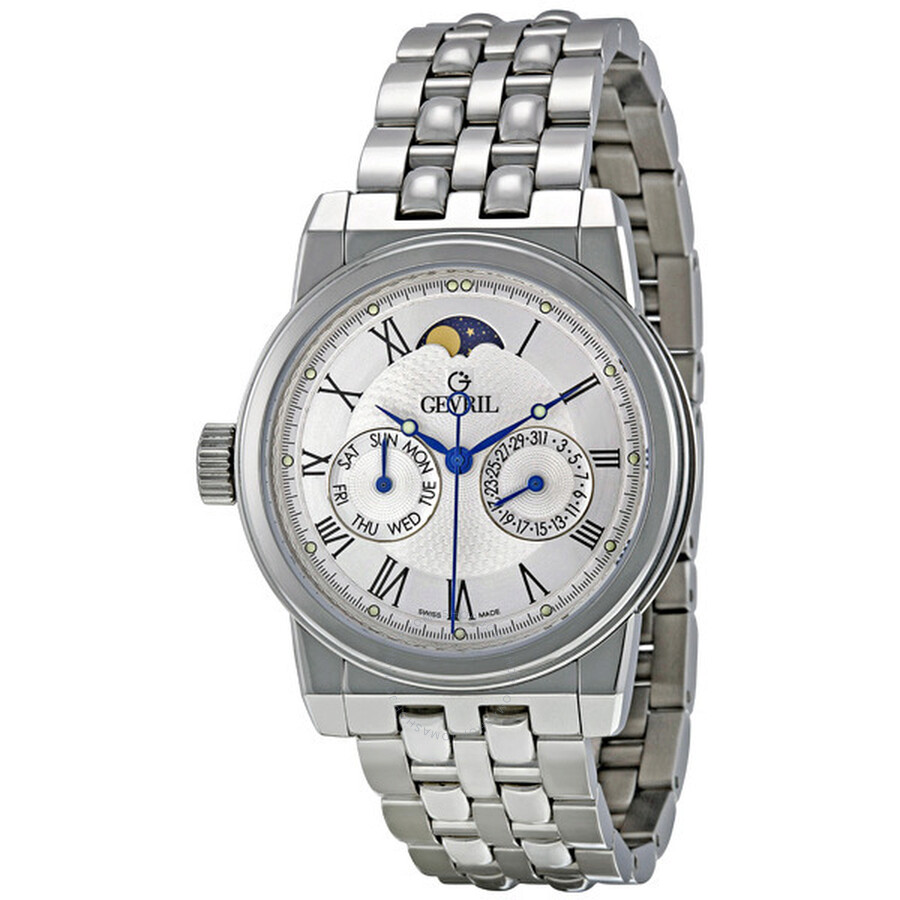 Gevril soho white dial stainless steel men 39 s watch 2603b gv2 by gevril watches jomashop for Gevril watches