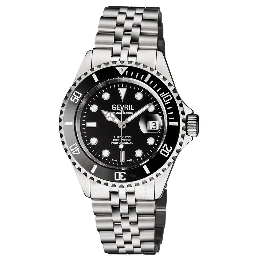Gevril Wall Street Black Dial Men's Watch (4850B)