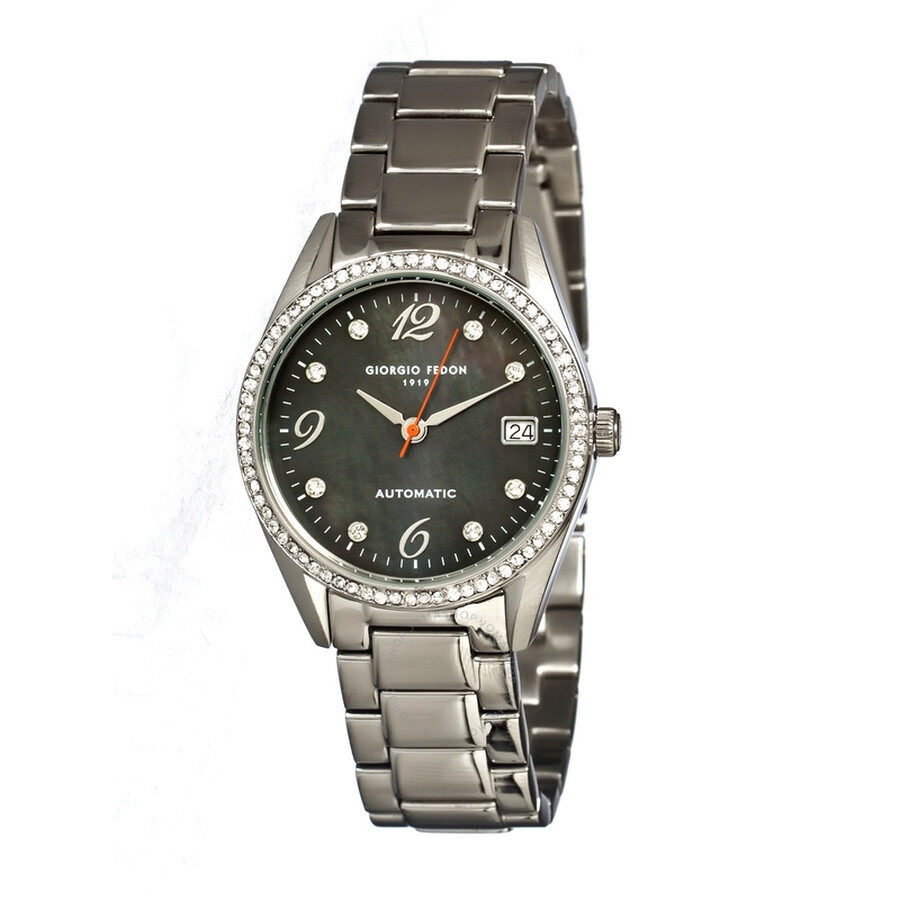 Giorgio Fedon 1919 Mechanical Lady I Steel Black Pearl ...