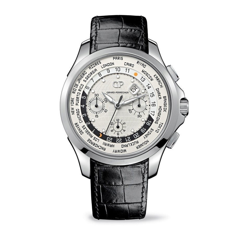 Girard perregaux traveller ww tc chronograph automatic men 39 s watch 49700 11 133 bb6b traveller for Girard perregaux