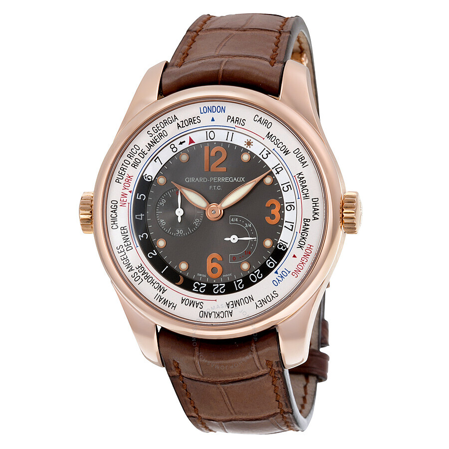 Girard perregaux ww tc hours of the world 18k rose gold men 39 s watch 49850 52 254 baca for Girard perregaux
