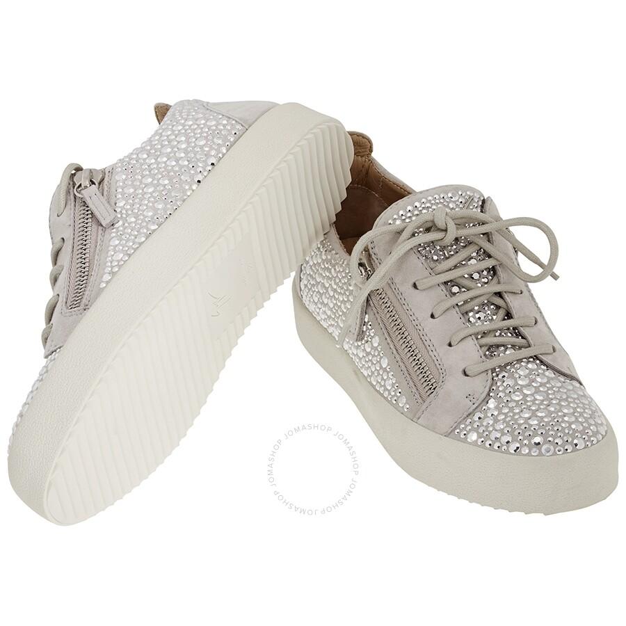 Giuseppe Zanotti Ladies Silver Sneakers
