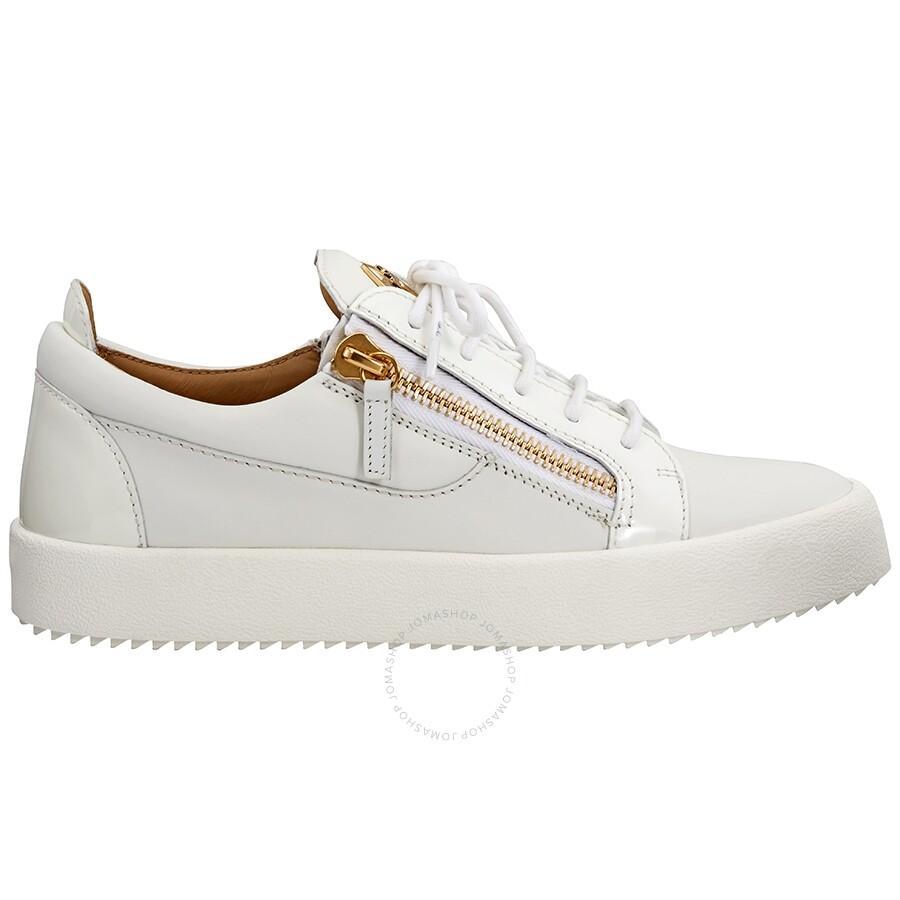 6937aaf5939b4 Giuseppe Zanotti Men's White Low-Top Sneakers- Size 40 Item No. RU7000-40