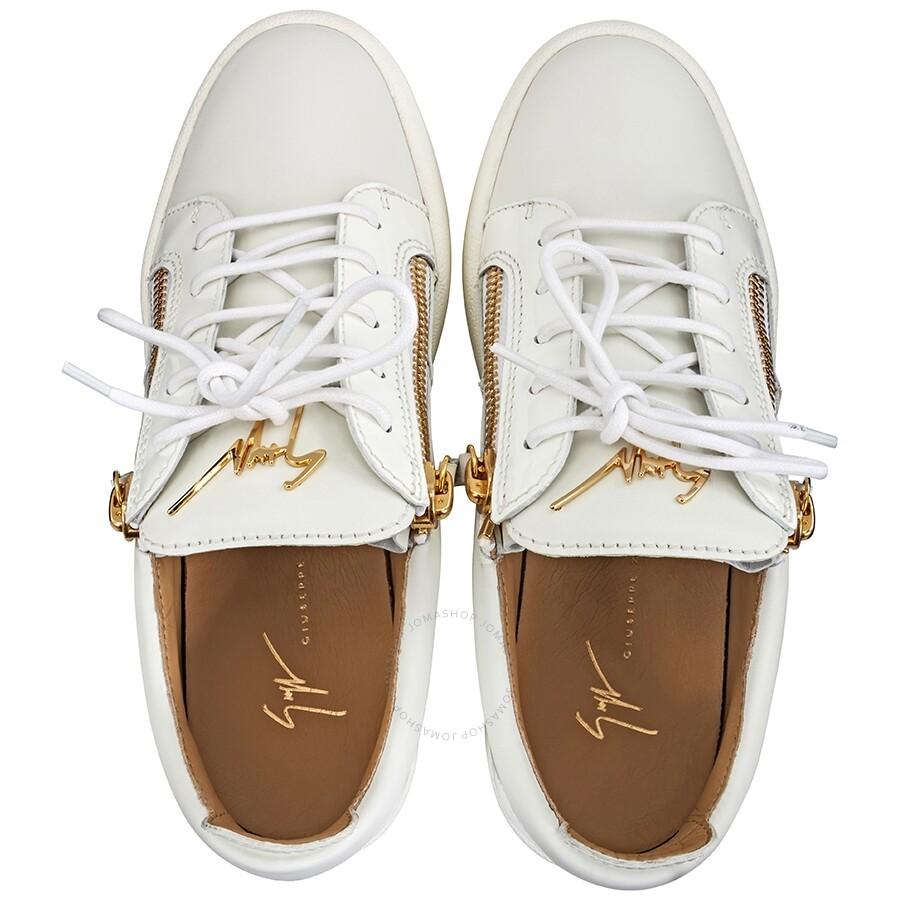 7aa1e2b60ce4d Giuseppe Zanotti Men's White Low-Top Sneakers- Size 40 - Designer ...