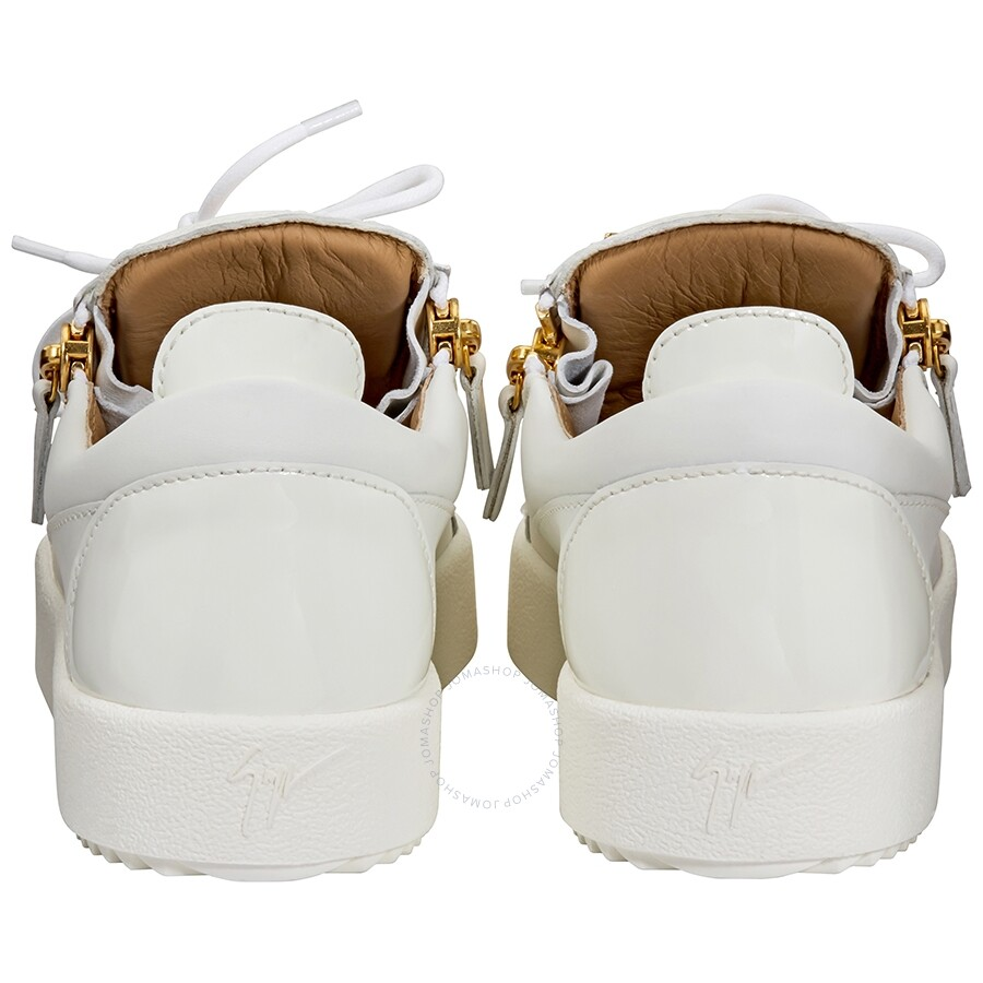 e6feeebccd7c0 Giuseppe Zanotti Men's White Low-Top Sneakers- Size 40 - Designer ...