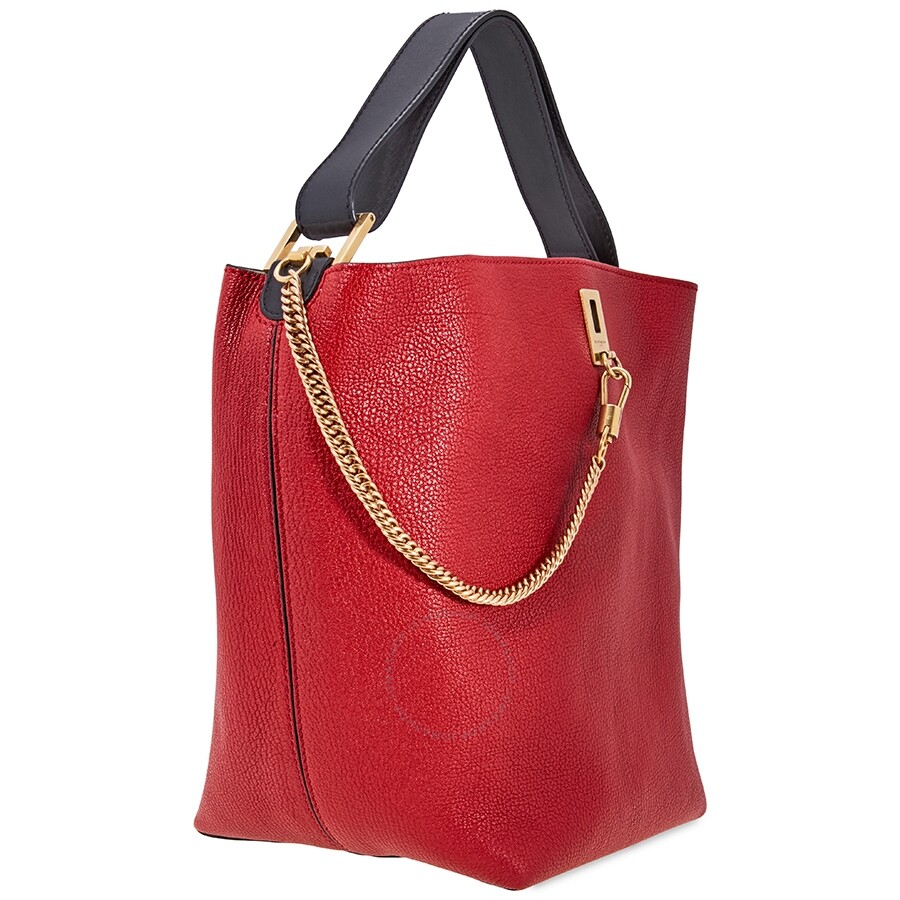 4e49c773a5d Givenchy GV Bucket Bag in Grained Leather-Red - Givenchy - Handbags ...