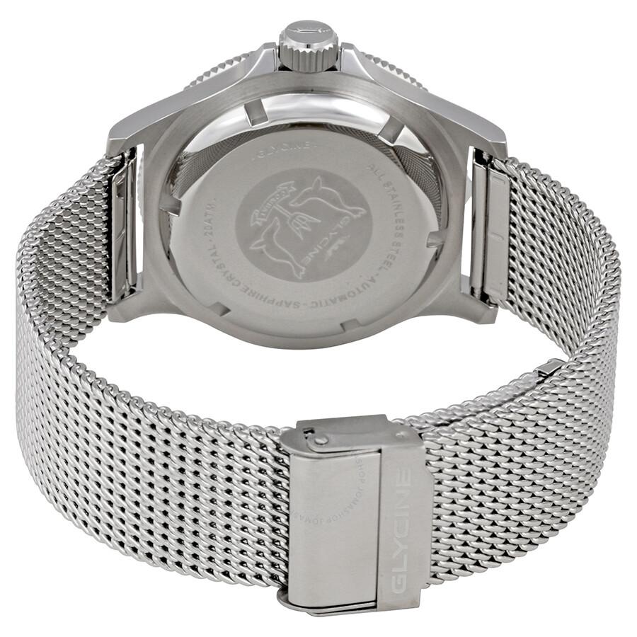 Glycine Combat Sub Black Dial Steel Bracelet Automatic Men's Watch GL0091