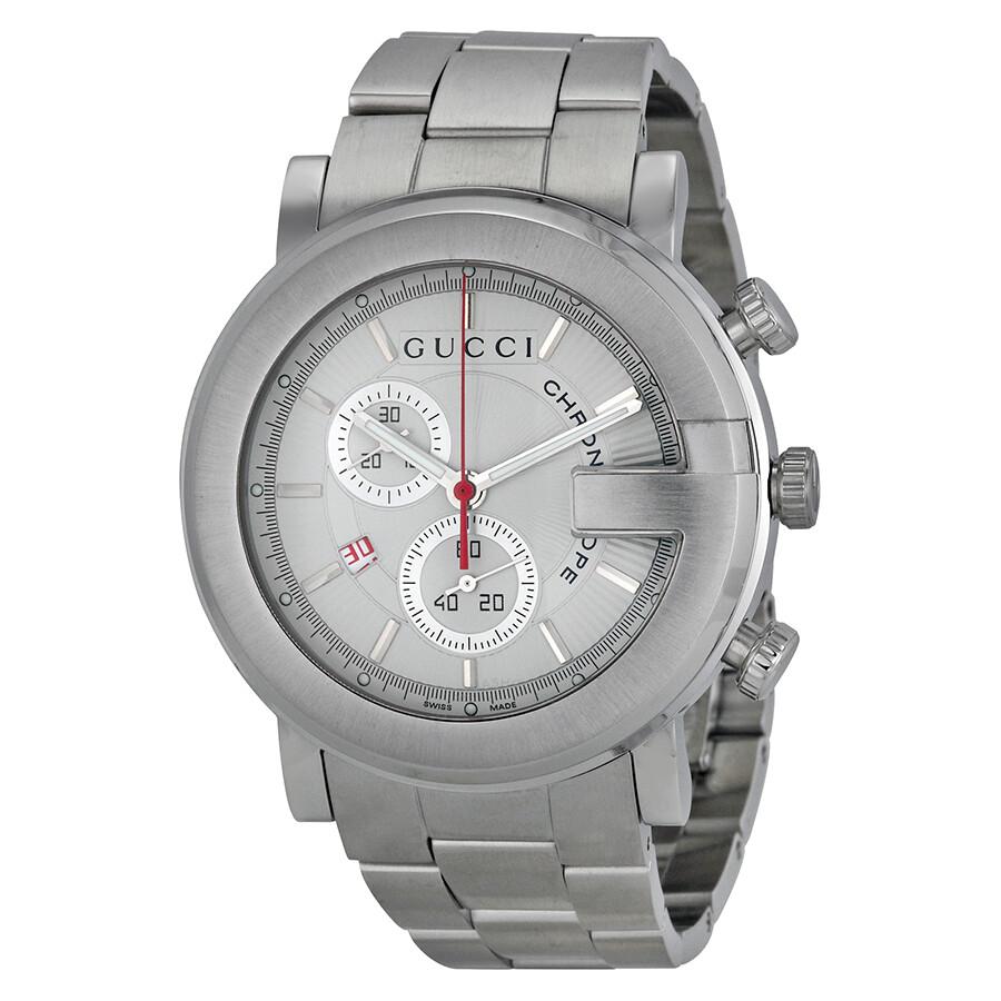 gucci 101 ground white chronograph mens watch ya101339