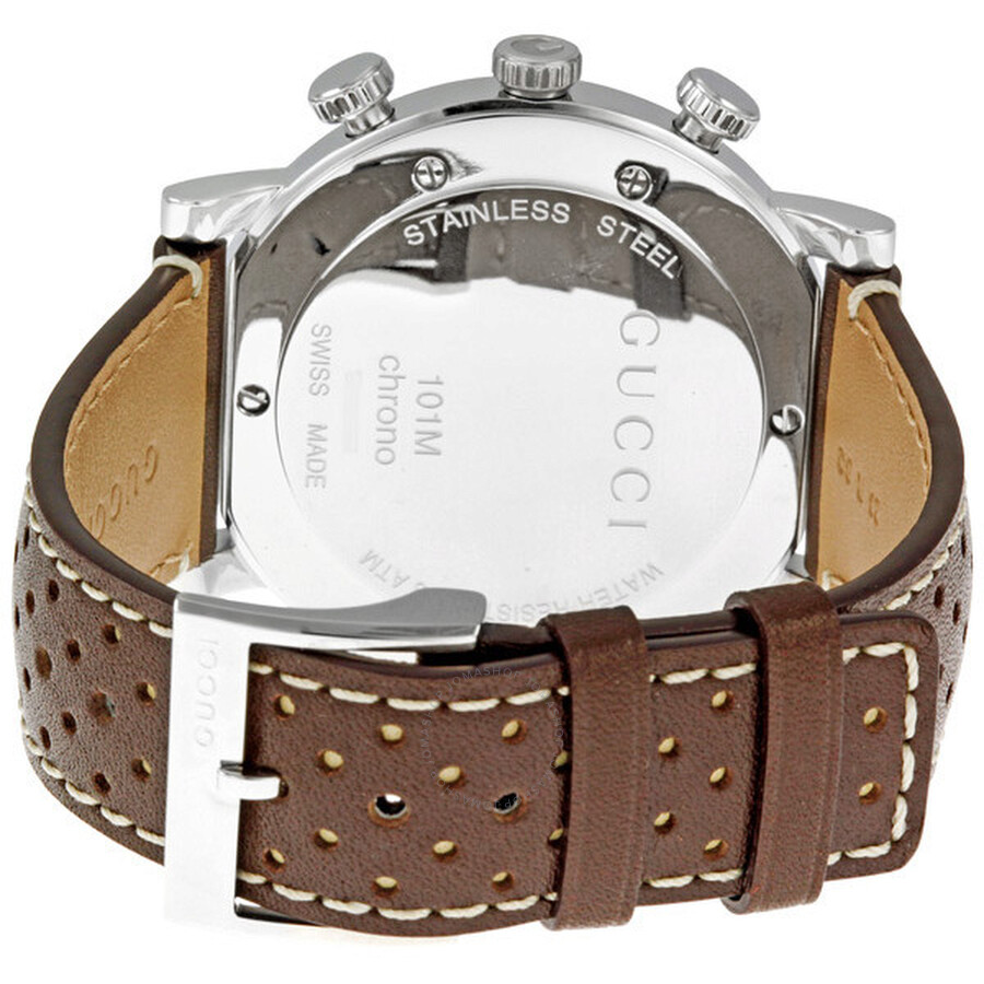 ca0127c2bc4 Gucci 101G Chronograph Steel Brown Men s Watch YA101312 - G-Chrono ...