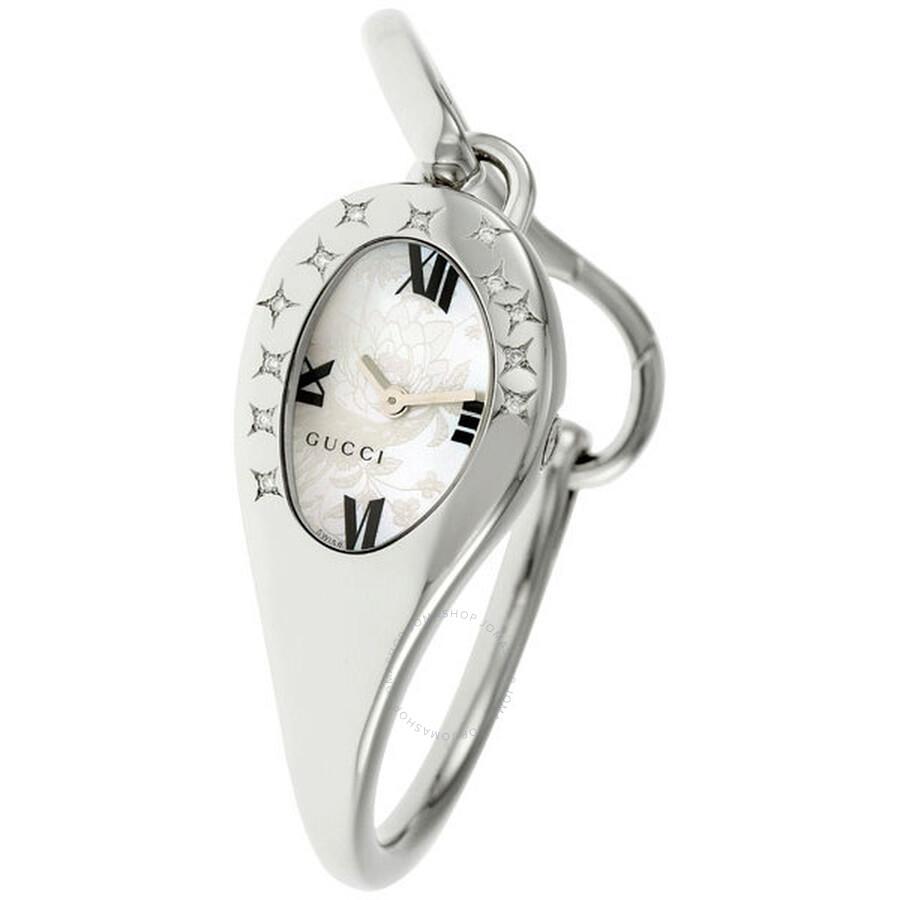 e6242b11462 Gucci 103 Mors Horsebit Star Shaped Diamonds Ladies Watch YA103531 ...