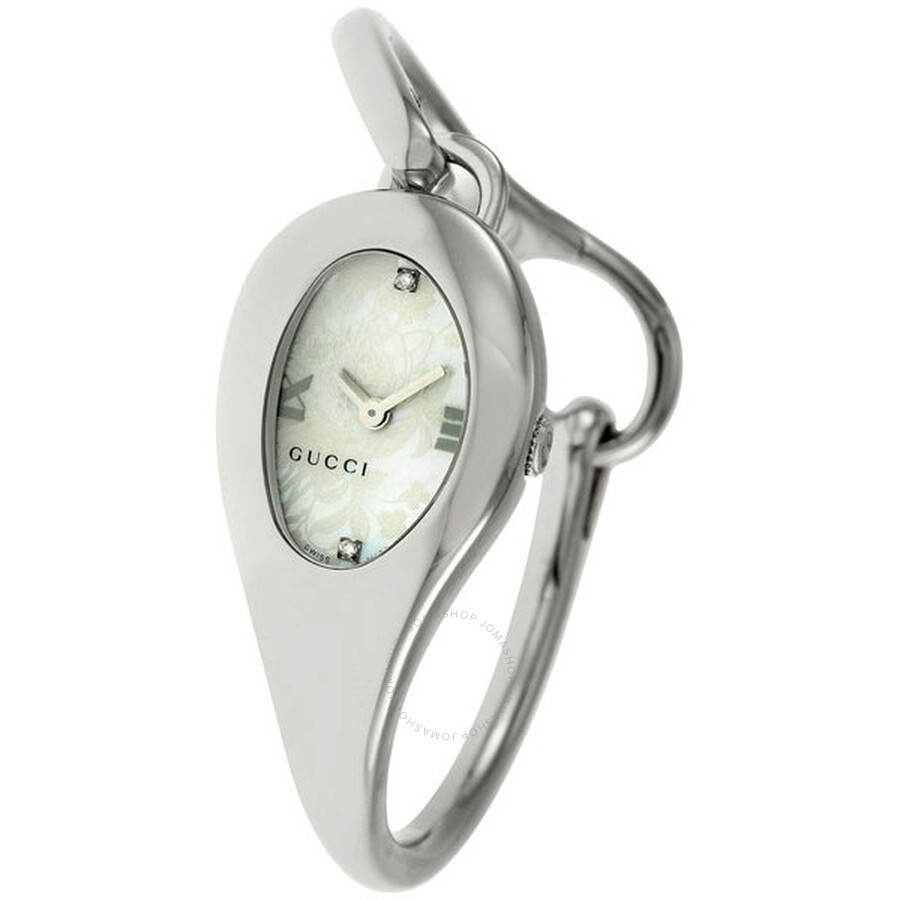 5ceb2a1e7f7 Gucci 103 Series Horsebit Diamond Mother-of-Pearl Flower Ladies Watch  YA103525 ...