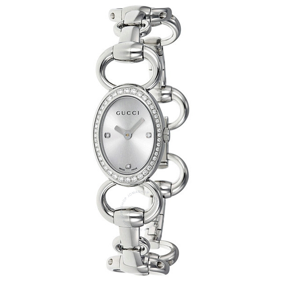 62fda63f895 Gucci 118 Torabuoni Silver Dial 44 Diamonds Stainless Steel Bracelet Ladies  Watch YA118505 ...