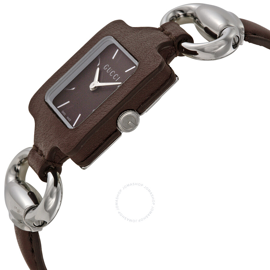 4f1521f539c Gucci 1921 Brown Dial Brown Leather Ladies Watch YA130403 - 1921 ...