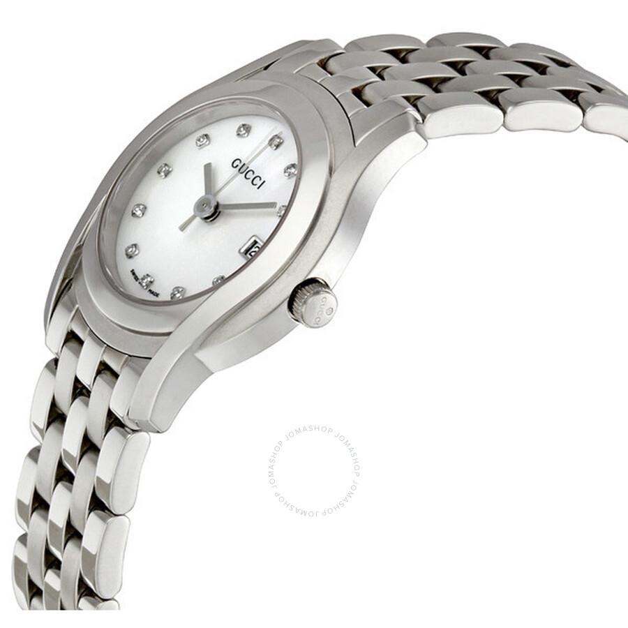 1051e8914b4 Gucci 5505 Mother of Pearl 11 Diamond Ladies Watch YA055501 - Gucci ...