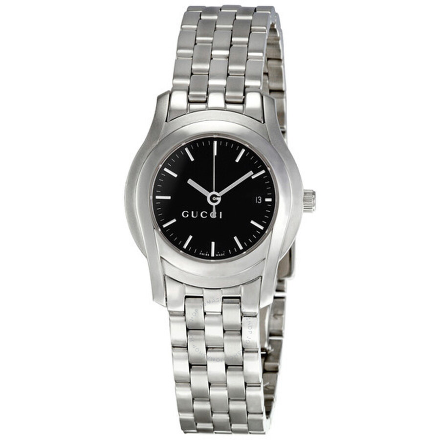 d6af41af231 Gucci 5505 Stainless Steel Black Ladies Watch YA055518 - Gucci ...