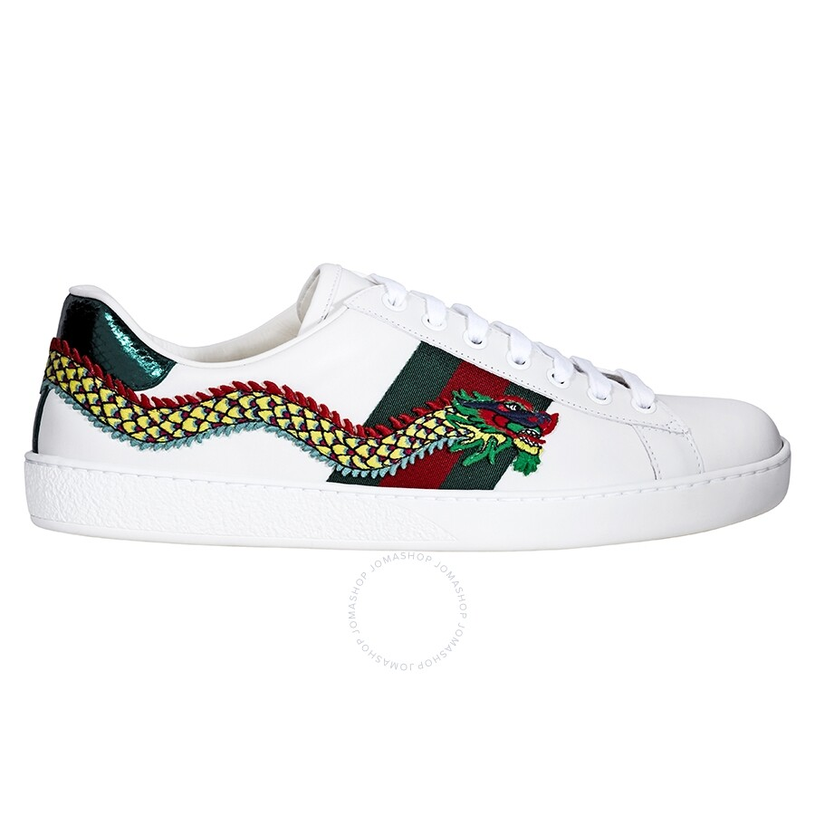 fa868cd2ceef Gucci Ace Low Top Embroidered Dragon Sneaker GC473764A38G09064 ...