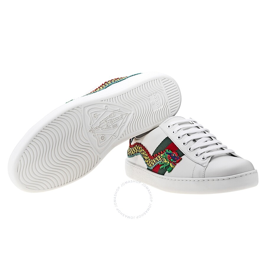 5ed7538e902 ... GC473764A38G09064 Gucci Ace Low Top Embroidered Dragon Sneaker  GC473764A38G09064 ...