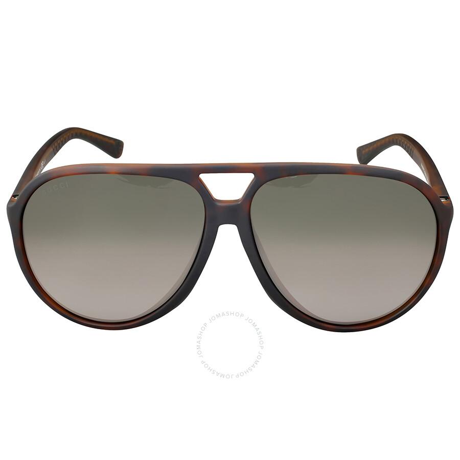 6a0435c890f Gucci Asia Fit Aviator Brown Gradient Sunglasses Item No. GG1094 F SDWJHA