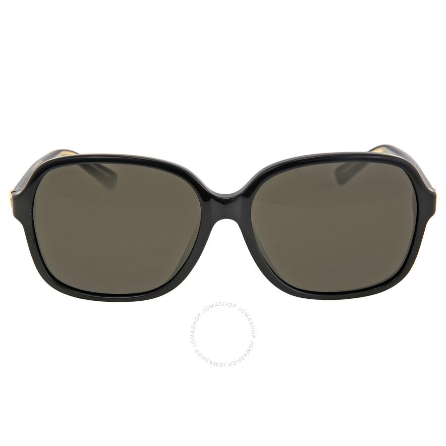 e702a16cc19 Gucci Asia Fit Square Lens Black Sunglasses GG3834 F SY6CNR - Gucci ...