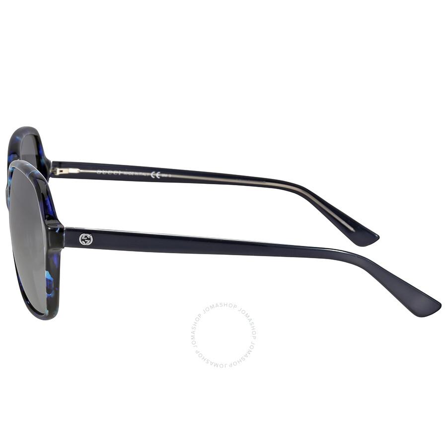 6e9bd2b7211 Gucci Asian Fit Blue Havana Sunglasses Gucci Asian Fit Blue Havana  Sunglasses ...